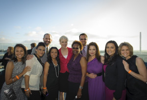 (l-r) Members of PPPSW: Carolyn Pinces, Claudia Martinez, Jonathan Dale, Jennifer Fuentecilla, Cecile Richards, Vernita Gutierrez, Christopher Dale, Rafaela Frausto, Sharina Carbajal, and Jamie Schroer. (Photo by Michael Tyler / Michael Tyler Photography)