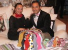 Anda and Immanuel Ontiveros with a colorful assortment of bow ties.