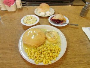 "The ""Famous Chicken Pie Dinner"" is $7.50 and recipe hasn't changed in 75 years. (Photo by Morgan M. Hurley)"