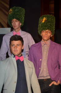 """Models at the """"Leap into Fashion"""" show wear Lord Wellington bow ties. (Photo by Diana Cavagnaro)"""