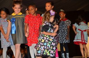 Young models wear LeVar Johnson, who won First Place for Children's Wear. (Photo by Diana Cavagnaro)