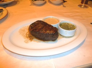 Filet mingnon with housemade peppercorn and blue cheese sauces (Photos by Frank Sabatini Jr)