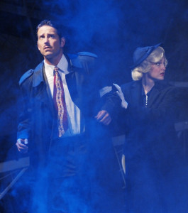 (l-r) David S. Humphrey as Ricahrd Hannay and Kelsey Venter in one of her many roles (Photo by Ken Jacques)