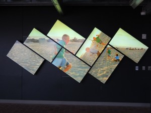 One of four major art installations at the new library. (Photo by Morgan M. Hurley)