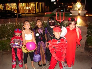 Children dressed up for last year's Trick or Treat on India Street. (Courtesy Little India Association)