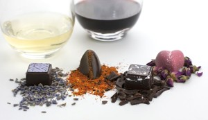 An array of delectable creations; (below) Isabella Knack, the founder and owner of Dallman Fine Chocolates (Courtesy Dallman Fine Chocolates)