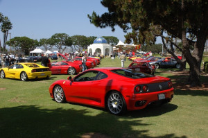 A red Ferrari on display on Spanish Landing during a previous Bella Italis. This year's event takes place APril 26. (Photo by John Boren)