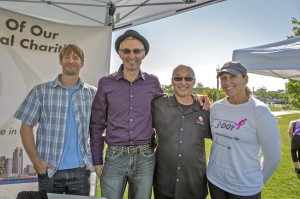 David Stone (center in purple) with Photocharity staff (Courtesy Jeff Sitcov)