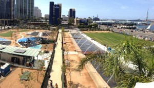 An overview of the new Waterfront Park adjacent the San Diego County Administration Center, which opens to the public May 10. (Courtesy County of San Diego)