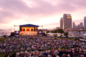 San Diego Summer Pops gears up for another exciting season at Embarcadero Marina Park South. The popular outdoor concert series kicks off June 28 and runs through Labor Day. (Photo by David Hartig)