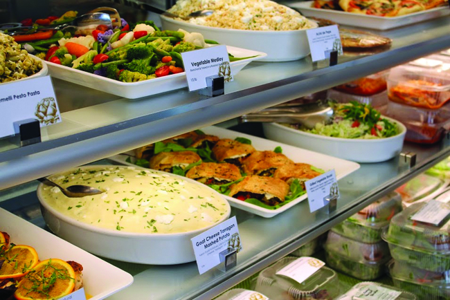 Take out options line the shelves at Waters (Courtesy Waters Fine Foods & Catering)