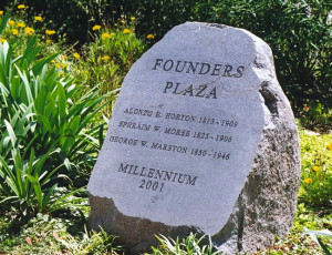 Founder's Plaza in Balboa Park was dedicated in 2001. (Photo by Delle Willett)