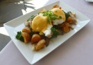 Potato and chicken hash with eggs (Photo by Frank Sabatini Jr.)
