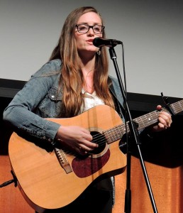 Ana Lee Fleming sang some of her own tunes at the Film Forum's Mini-Concert on Nov. 24 at the Central Libraryweb
