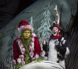 (l to r) Burke Moses as The Grinch and Jeffrey Schecter as Young Max (Photo by Jim Cox)