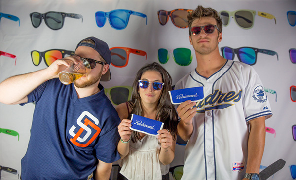 College students at a recent College Night at Petco Park visit the Knockaround photo booth (Courtesy Knockaround)