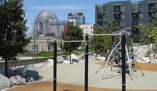 Playground with view of New Central Librarywebtop