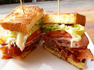 A jumbo BLT with ham from Carnitas Snack Shack (Photo by Frank Sabatini Jr.)