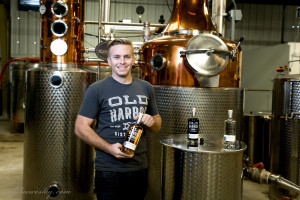 Michael Skubic in his Downtown distillery (Courtesy Old Harbor Distilling Co.)