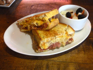 A classic Reuben with Gruyere instead of Swiss