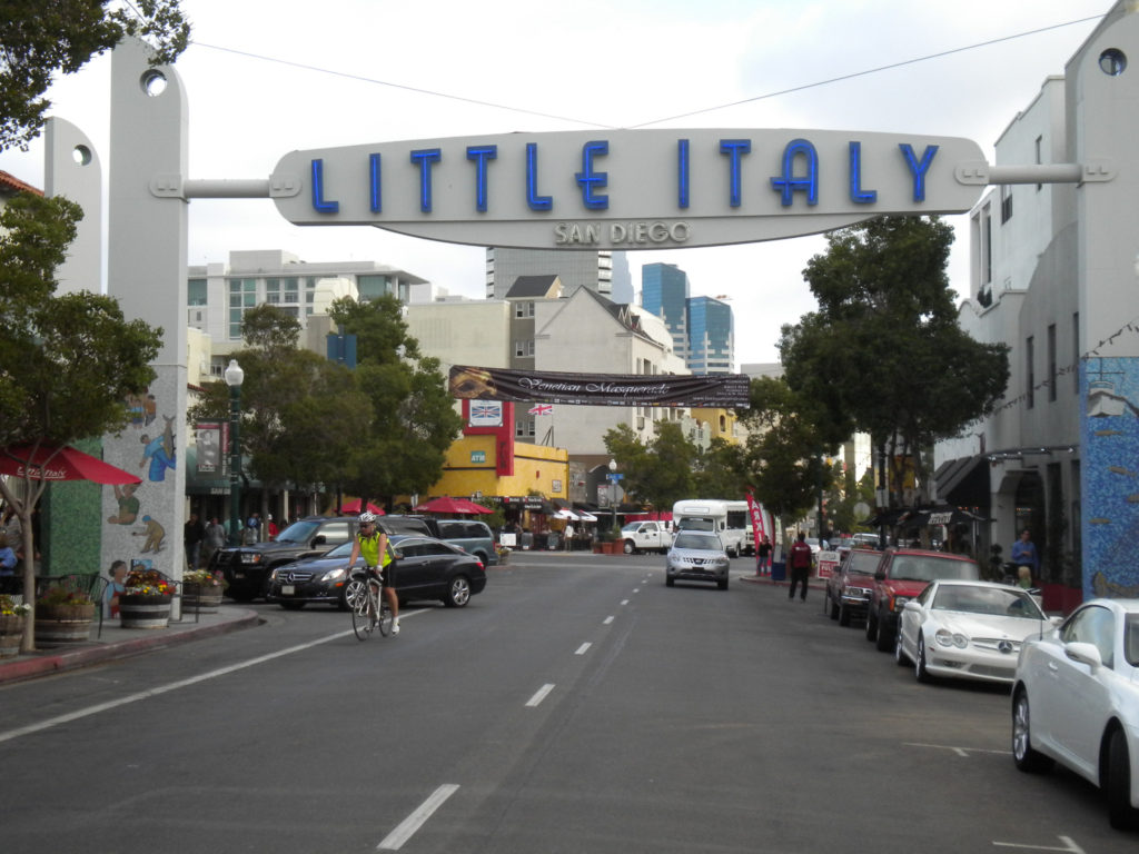 Little Italy sign and street1