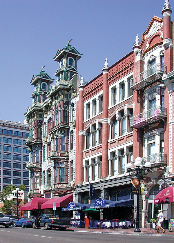 Historical architecture in the Gaslamp Quarter abounds. (Courtesy SOHO)