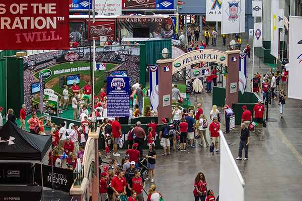 A Fan Fest display in Cincinnati (Courtesy MLB)