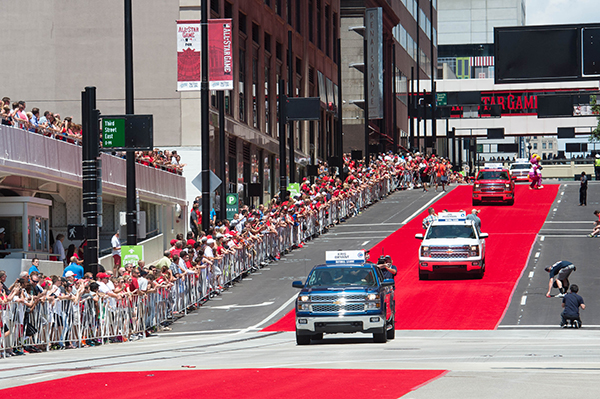 Players always arrive for the big game via the MLB All-Star Red Carpet Parade. This year's parade will run down Harbor Drive.(Courtesy MLB)