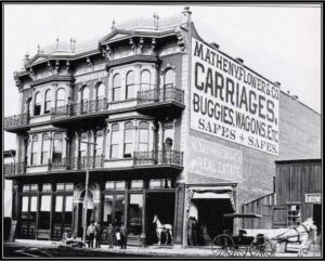 The Horton Grand was two separate buildings at one time, as indicated in this early 1900s photo. (Courtesy Gaslamp Quarter Historical Foundation)