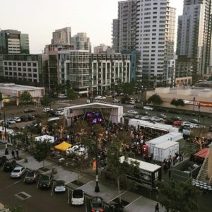 A view of Quartyard from a nearby East Village rooftop (@tmoneysd / Facebook)