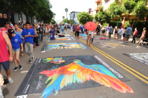 "Italian chalk art (""gesso Italiano"") is one of the most popular attractions at FESTA! (Courtesy Olive PR)"