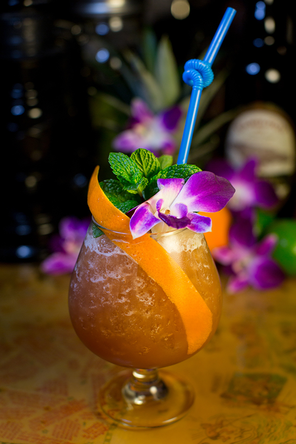 "False Idol's rum-spiked ""Coronado luau"" (Photo by Arlene Ibarra)"