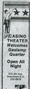 An old newspaper advertisement (Courtesy GQHF)