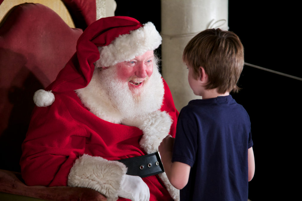 Santa Claus (Bill Swank) has been a fixture at December Nights for decades (Courtesy Balboa Park December Nights)