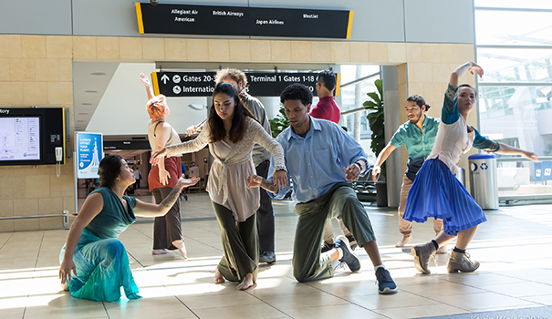 Airport 'transcends' race and age with dance