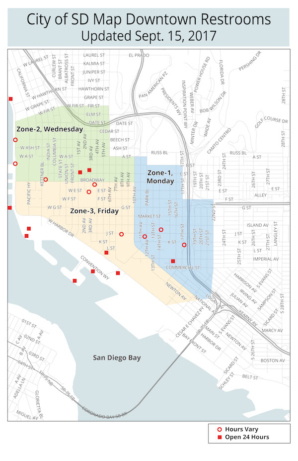 San Diego Map Downtown.Protect Yourself From Hepatitis A Outbreak San Diego Downtown News