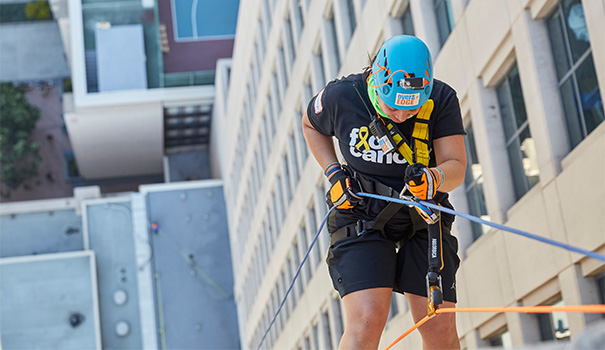 Rappelling for a cause