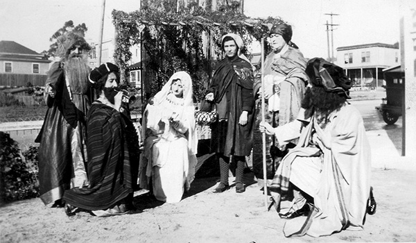 Scene from a Christmas play at Our Lady of the Rosary Parish in Little Italy, c. 1928. (Courtesy of Our Lady of the Rosary Parish and the Convivio Italian ...